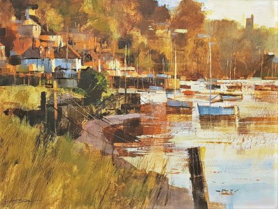 British Artist Chris FORSEY - October Evening, Noss Mayo