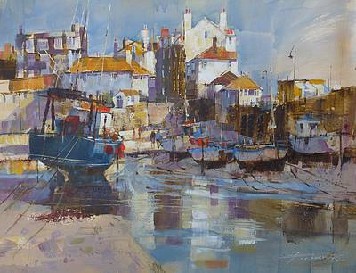 British Artist Chris FORSEY - St Ives, Harbour