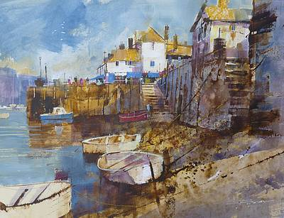 British Artist Chris FORSEY - Fowey, Low Tide