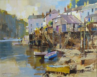 British Artist Chris FORSEY - April Morning, Fowey