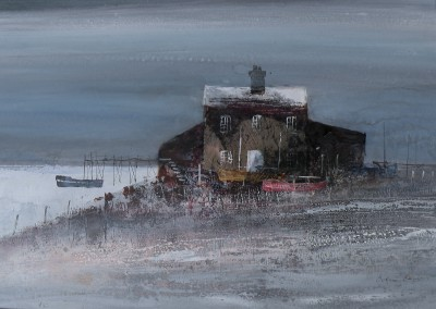 British Artist Colin KENT - Boat House and Jetty