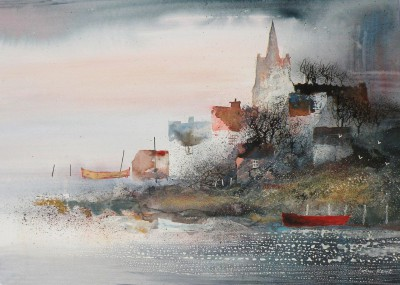 British Artist Colin KENT - Coastal Parish