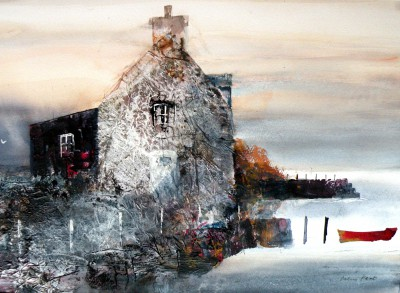 British Artist Colin KENT - Coastal Dwelling, Suffolk