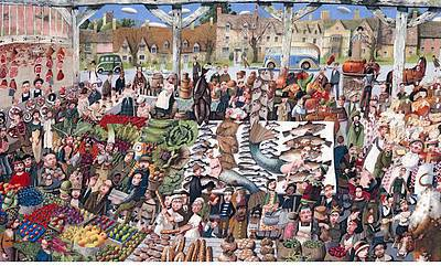 British Artist Richard Adams - Country Market
