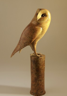 Sculpture and Sculptors Artist Damien ROCHFORD - Barn Owl