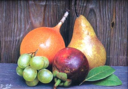 British Artist Darren BAKER - Rustic Fruits