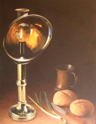 British Artist Darren BAKER - Brass Lamp
