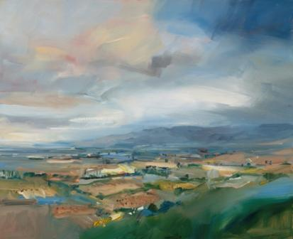 David ATKINS - View Across the Fields and Vineyards, Rioja