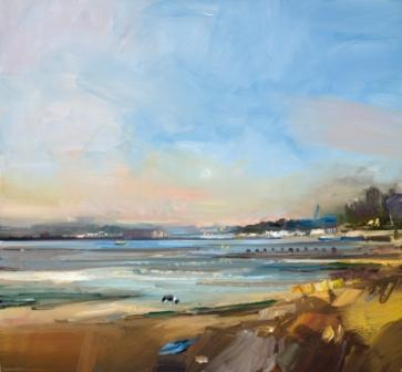 British Artist David ATKINS - Evening Light, Shell Bay