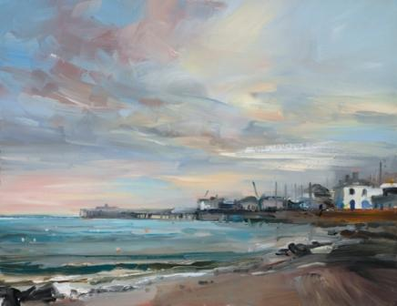 British Artist David ATKINS - Evening Light, Swanage