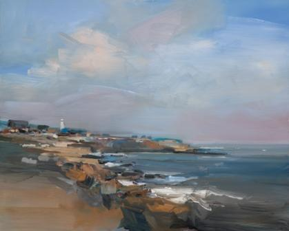 British Artist David ATKINS - The Sea at Portland Bill