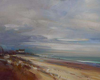 British Artist David ATKINS - The Sea at Brancaster