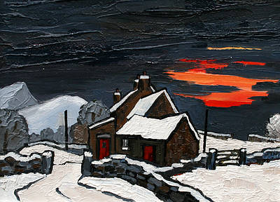 David BARNES - Snowdonian Hill Farm in Winter