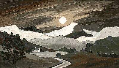 David BARNES - Snowdonia by Moonlight from the Moors