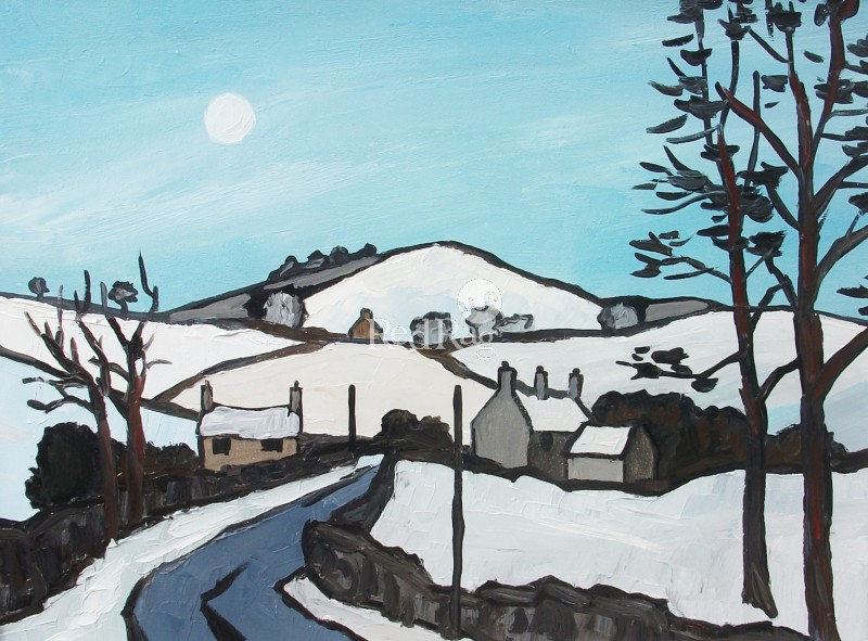David BARNES - Winter near Bodfari