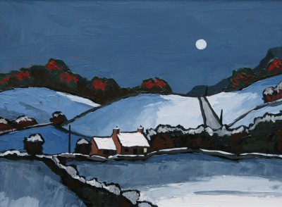 David BARNES - Winter Moonlight in Nantglyn