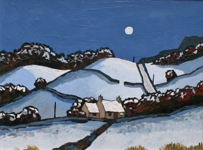 David BARNES - Moonlight near Nant Glyn
