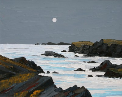 David BARNES - Moonlight over South Stack