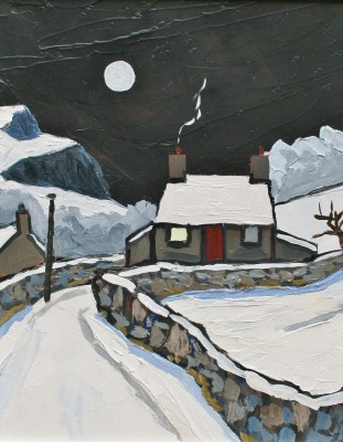 David BARNES - Winter at Rhyd
