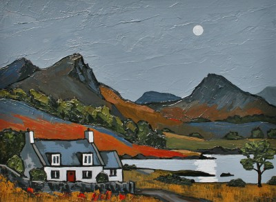 David BARNES - Moonlight over the Loch