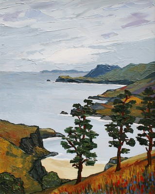 British Artist David BARNES - Scotch Pines in Wester Ross