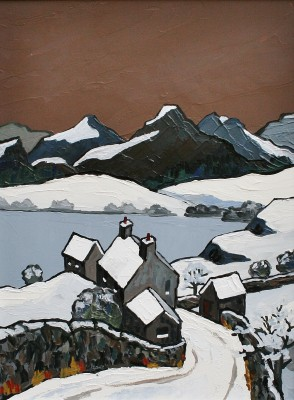 David BARNES - Across the Lake in Winter