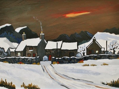 British Artist David BARNES - Winter Evening