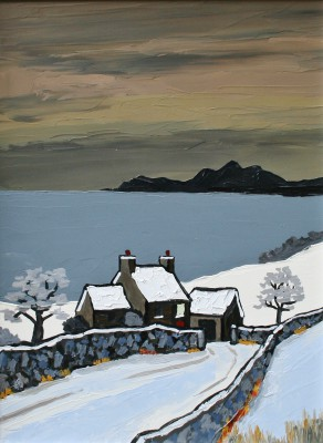 British Artist David BARNES - The Lleyn in Winter