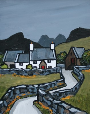British Artist David BARNES - Farm in Snowdonia