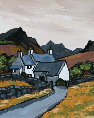 British Artist David BARNES - Moelwyn even tide