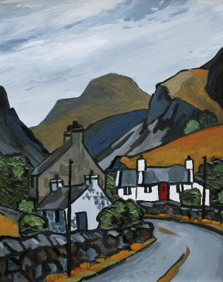 British Artist David BARNES - The Llanberis Pass