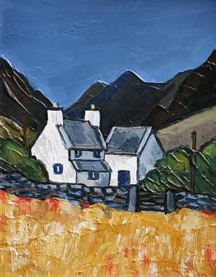 British Artist David BARNES - Cottage near Llanrwst