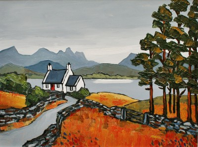 British Artist David BARNES - Cottage in Assynt