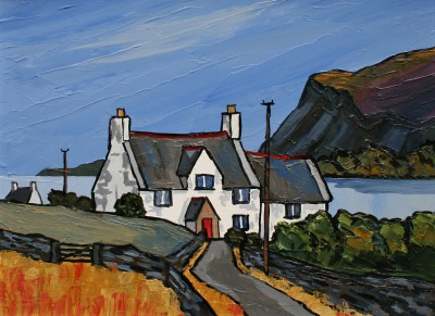 British Artist David BARNES - Cottage near Dundonald