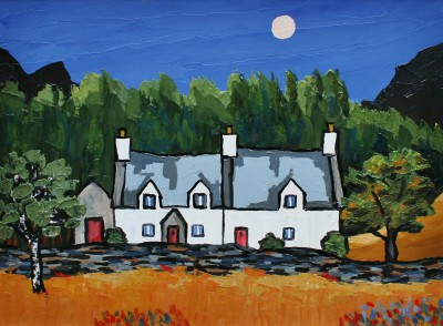 Cottages in the Gwydir Forest