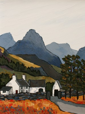 British Artist David BARNES - In the Llugwy Valley