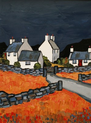 British Artist David BARNES - Cottages on the Lleyn