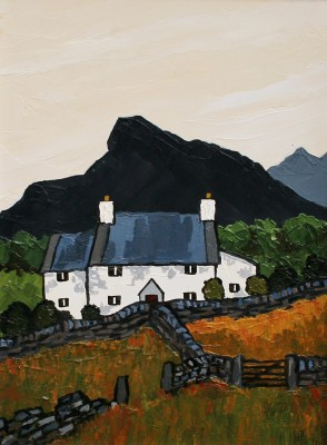 British Artist David BARNES - Gwynant Farm