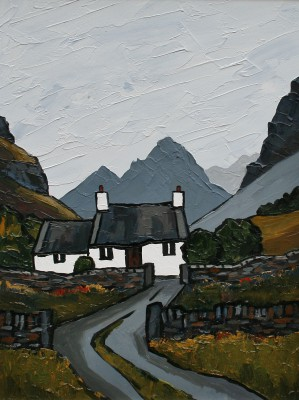 British Artist David BARNES - In the Carneddau