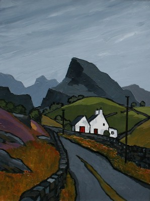 British Artist David BARNES - Into Snowdonia