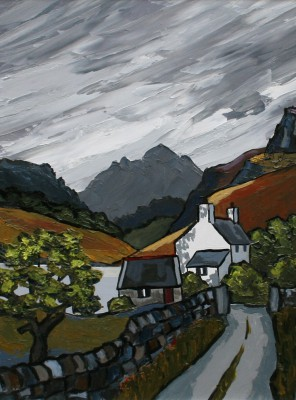 British Artist David BARNES - Mountain Lake