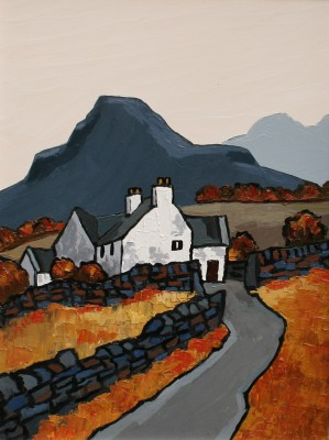 British Artist David BARNES - Riniog Farm