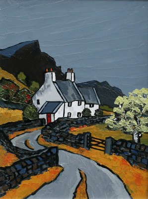 British Artist David BARNES - Towards Snowdonia