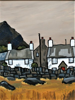British Artist David BARNES - Cottages near Siabod