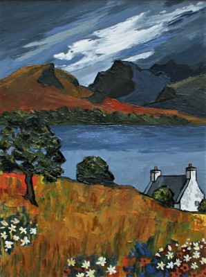 British Artist David BARNES - Across the Loch