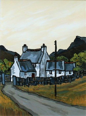 British Artist David BARNES - Mountain Farm