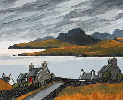 British Artist David BARNES - Western Scottish Coast