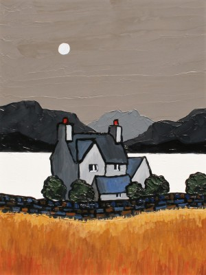 British Artist David BARNES - Across The Bay