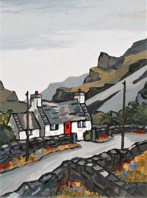 British Artist David BARNES - Road Down The Pass