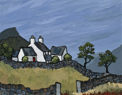 British Artist David BARNES - Farm Near Siabod